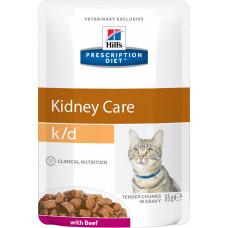 Hill's Prescription Diet Feline Kidney Care k/d Beef