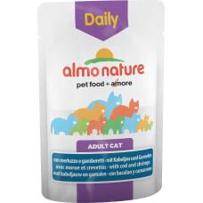 Almo Nature Adult Cat Daily Menu Cod & Shrimps 70 г