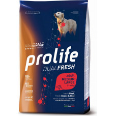 Prolife Dual Fresh Adult Dog Medium/Large Beef, Goose&Rice