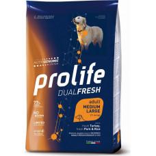 Prolife Dual Fresh Adult Dog Medium/Large Turkey, Pork&Rice