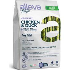 Alleva Holistic Adult Cat Neutered Chicken & Duck + Sugarcane fiber & Ginseng