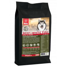 Blitz Holistic Adult Dogs Beef & White Fish All Breeds Grain Free
