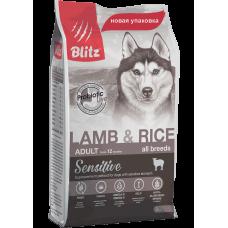 Blitz Sensitive Adult Dogs Lamb & Rice All Breeds