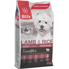 Blitz Sensitive Adult Dogs Lamb & Rice Small Breeds