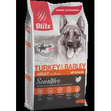 Blitz Sensitive Adult Dogs Turkey & Barley All Breeds