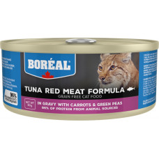 Boreal Cat Tuna Red Meat Formula with Carrots & Green Peas in gravy
