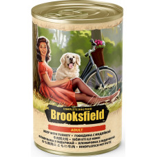 Brooksfield Dog Adult  All Breeds Beef & Turkey Can