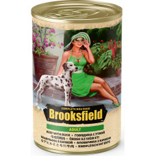 Brooksfield Dog Adult  All Breeds Beef & Duck Can