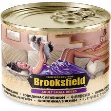 Brooksfield Dog Adult Small Breeds Beef & Lamb Can