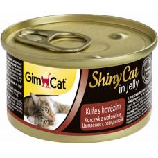 GimCat Shiny Cat (цыпленок + говядина)
