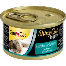 GimCat Shiny Cat (цыпленок + креветки)