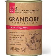 Grandorf Dog Adult Grain Free Говядина c Индейкой