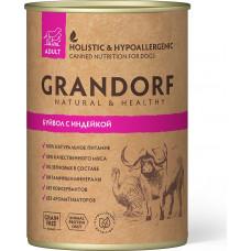 Grandorf Dog Adult Grain Free Буйвол c Индейкой