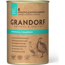 Grandorf Dog Adult Grain Free Куропатка c Индейкой