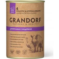 Grandorf Dog Adult Grain Free Дикий Кабан c Индейкой