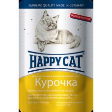 Happy Cat Adult Курочка (в соусе)