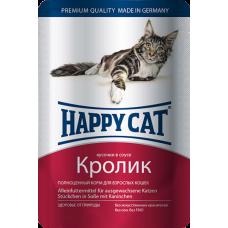 Happy Cat Adult Кролик (в соусе)