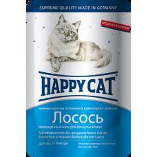 Happy Cat Adult Лосось (в соусе)
