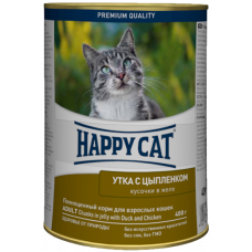 Happy Cat Adult Утка с Цыпленком (в желе)