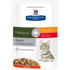 Hill's Prescription Diet Feline Metabolic + Urinary Stress Chicken