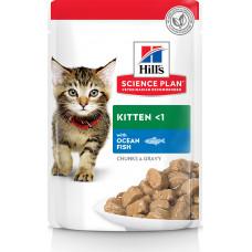 Hill's Science Plan Kitten Chunks & Gravy Ocean Fish