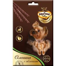 Мнямс Деликатес Лакомые палочки для собак Оленина с яблоками 3х11 г