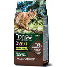 Monge BWild Cat Grain Free Large Breed Buffalo, Potatoes, Lentils