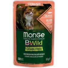 Monge BWild Cat Grain Free Sterilised Salmon, Shrimps & Vegetables