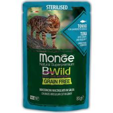 Monge BWild Cat Grain Free Sterilised Tuna, Shrimps & Vegetables