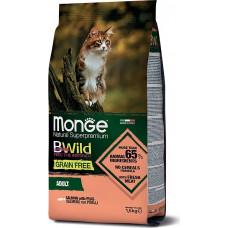 Monge BWild Cat Grain Free Salmon, Peas