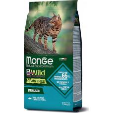 Monge BWild Cat Grain Free Sterilised Tuna, Peas