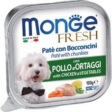 Monge Dog Fresh Pate Chicken & Vegetables