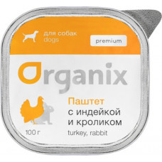 Organix Dog Premium Паштет с индейкой и кроликом