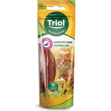 Triol Аппетитные колбаски для кошек (утка) 40 г