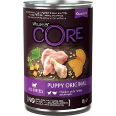 Wellness Core Puppy 95 Original Grain Free Chicken, Turkey & Pumpkin