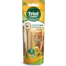 Triol Аппетитные колбаски для кошек (курица, треска)  40 г