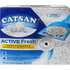 Catsan Active Fresh (комкующийся наполнитель 5л)