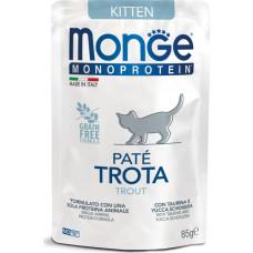 Monge Cat Monoprotein Pouch Kitten Trout
