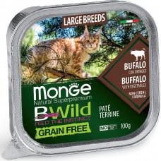 Monge BWild Cat Grain Free Large Breeds Buffalo & Vegetables