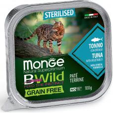 Monge BWild Cat Grain Free Sterilised Tuna & Vegetables