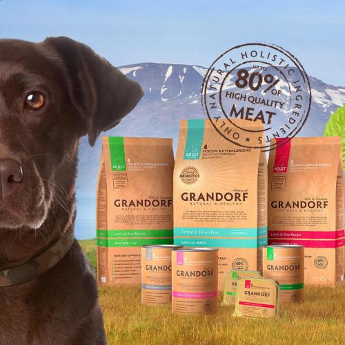 -25% на корма Grandorf в упаковке 1 кг для собак!