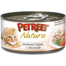 Petreet Куриная грудка с лососем 70 г