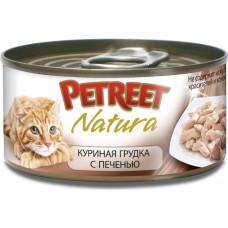 Petreet Куриная грудка с печенью 70 г