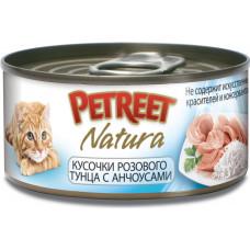Petreet Кусочки розового тунца с анчоусами 70 г