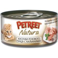 Petreet Кусочки розового тунца с кальмарами 70 г