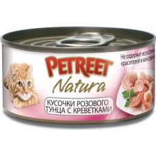Petreet Кусочки розового тунца с креветками 70 г