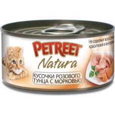 Petreet Кусочки розового тунца с морковью 70 г
