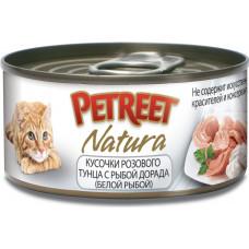 Petreet Кусочки розового тунца с рыбой дорада 70 г