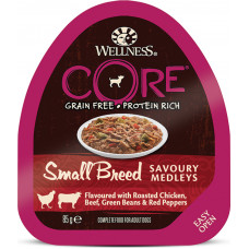 Wellness Core Dog Adult Savoury Medleys Small Breed Grain Free Chicken, Beef, Green Beans & Red Pepper