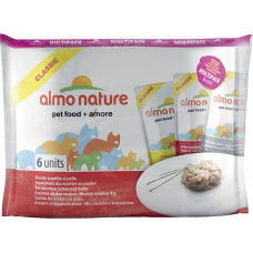 Almo Nature Adult Cat Classic Assorted Chicken Recipes MutliPack 6 x 55 г